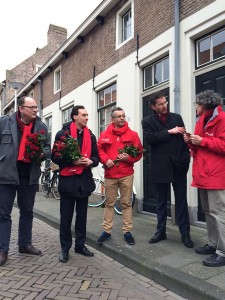 Het campagne team in de Dubbelstraat